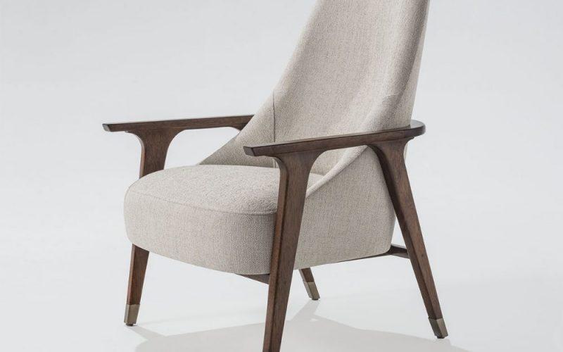 Fitz Petite Swivel Lounge Chair & Ottoman by Troscan Design & Furnishings