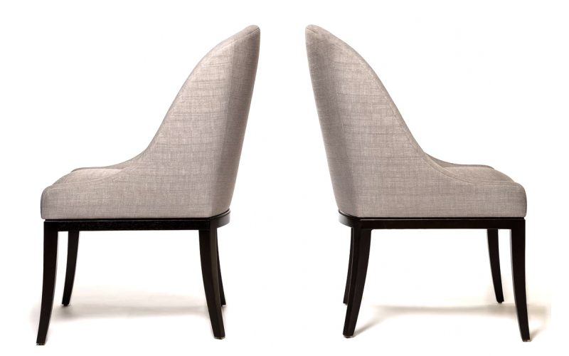 Chocolate Iconic Upholstered Chair 900 by Adriana Hoyos Furnishings