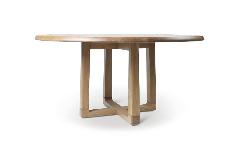 Astrid Round Dining Table – Bronze base by Troscan Design & Furnishings