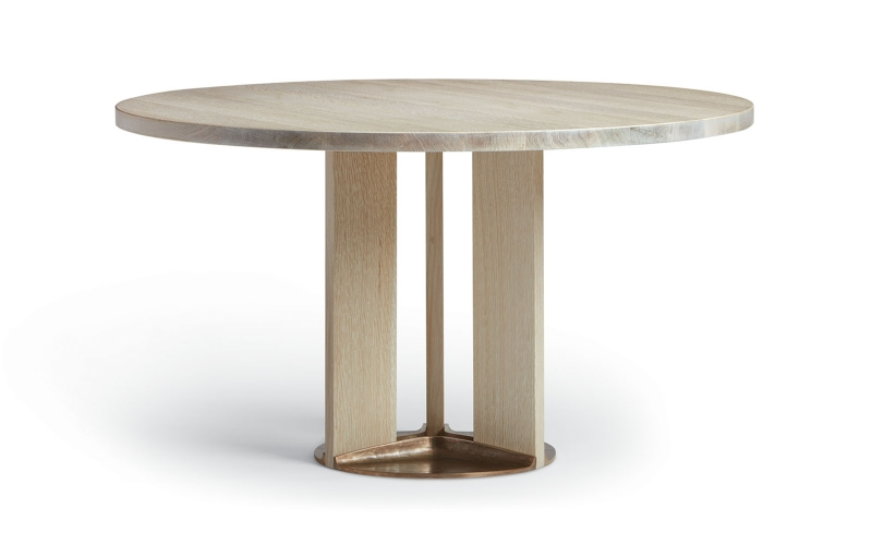 Astrid Round Dining Table – Wood Base by Troscan Design & Furnishings