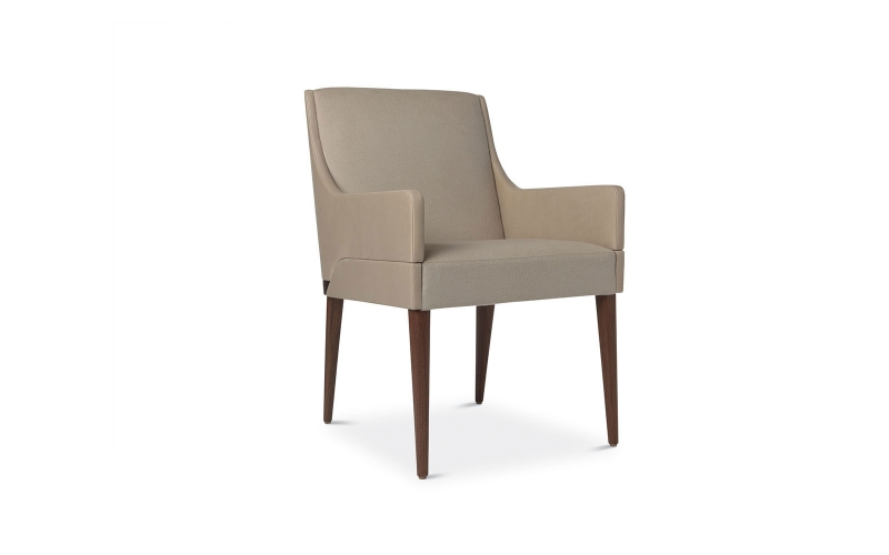 Chocolate Side Chair 120 by Adriana Hoyos Furnishings
