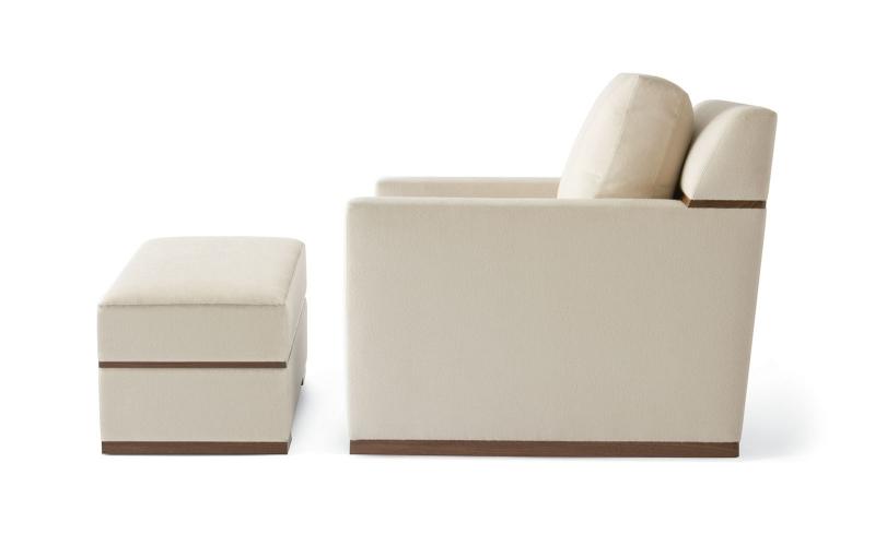 Chocolate Upholstered Chair 140 by Adriana Hoyos Furnishings