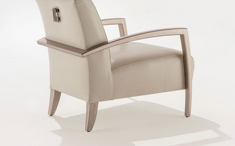 Bolero Upholstered Chair 110 by Adriana Hoyos Furnishings