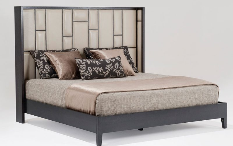 Chocolate Bed 131 by Adriana Hoyos Furnishings